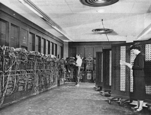 ENIAC, the first fully electronic digital computer, 1946 (image courtesy Millersville University via Incredible Pictures of Early Science Labs  at io9)