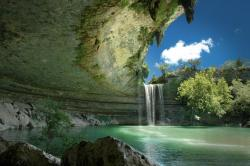 Hamilton pool nature preserve in Texas. Photo credit Dave Wilson. Source.