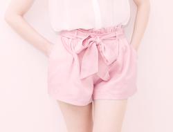 fashion edits shorts pink Korean fashion kfashion Asian fashion 2ndmirror rorypop