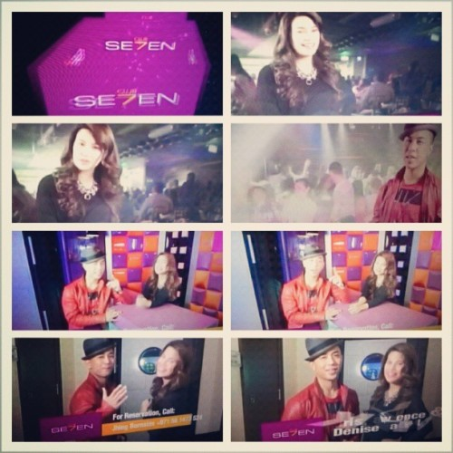 "Denise Laurel & Kris Lawrence ""Club Se7en"" advertisement #Tfc #Dubai #Uae #ParkRegis #ClubSeven #Instacollage #Instadaily  (at Club Se7en)"