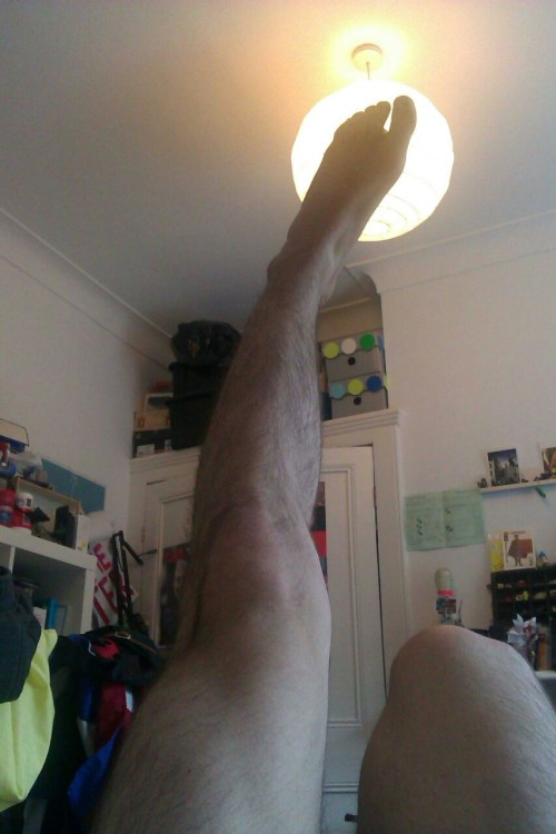 I already tweeted this pic of my leg but I see no reason for it not to be presented here as well