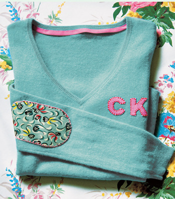Customised Jumper | Cath Kidston I bought my first jumper of the season on Saturday - a black jumper with white spots. I think the second jumper will have to be a plain one so I can add these adorable preppy elements, especially those elbow patches!