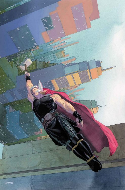 what-themath:  THOR: GOD OF THUNDER #12JASON AARON (W) • NIC KLEIN (A)Cover by ESAD RIBIC• THOR RETURNS TO MIDGARD! What does it mean to walk the Earth as a god?• Where does Thor go and who does he see when he's not out saving the world with the Avengers?• Also, the return of long-time love interest, Dr. Jane Foster.32 PGS./Rated T+ …$3.99