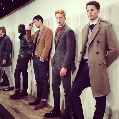 Topcoats and tweed at @JCrew Fall 2013 (via @mattyseebs) #nyfw #mbfw