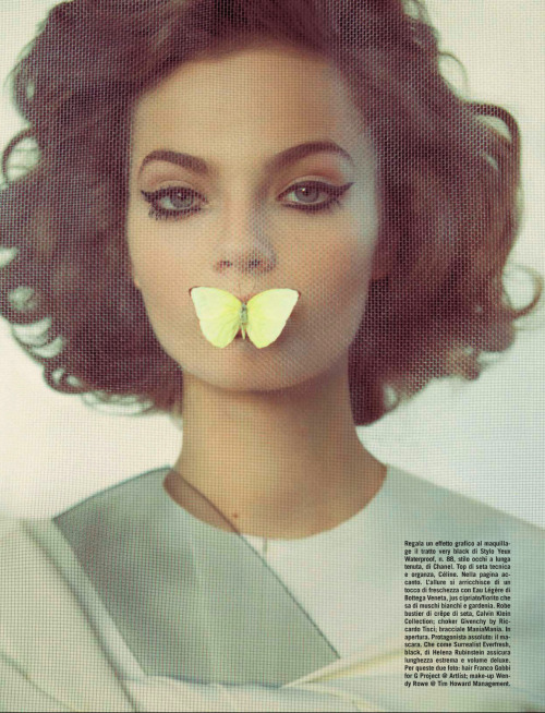 fashion-and-seek:  Vogue Italia Beauty March 2013
