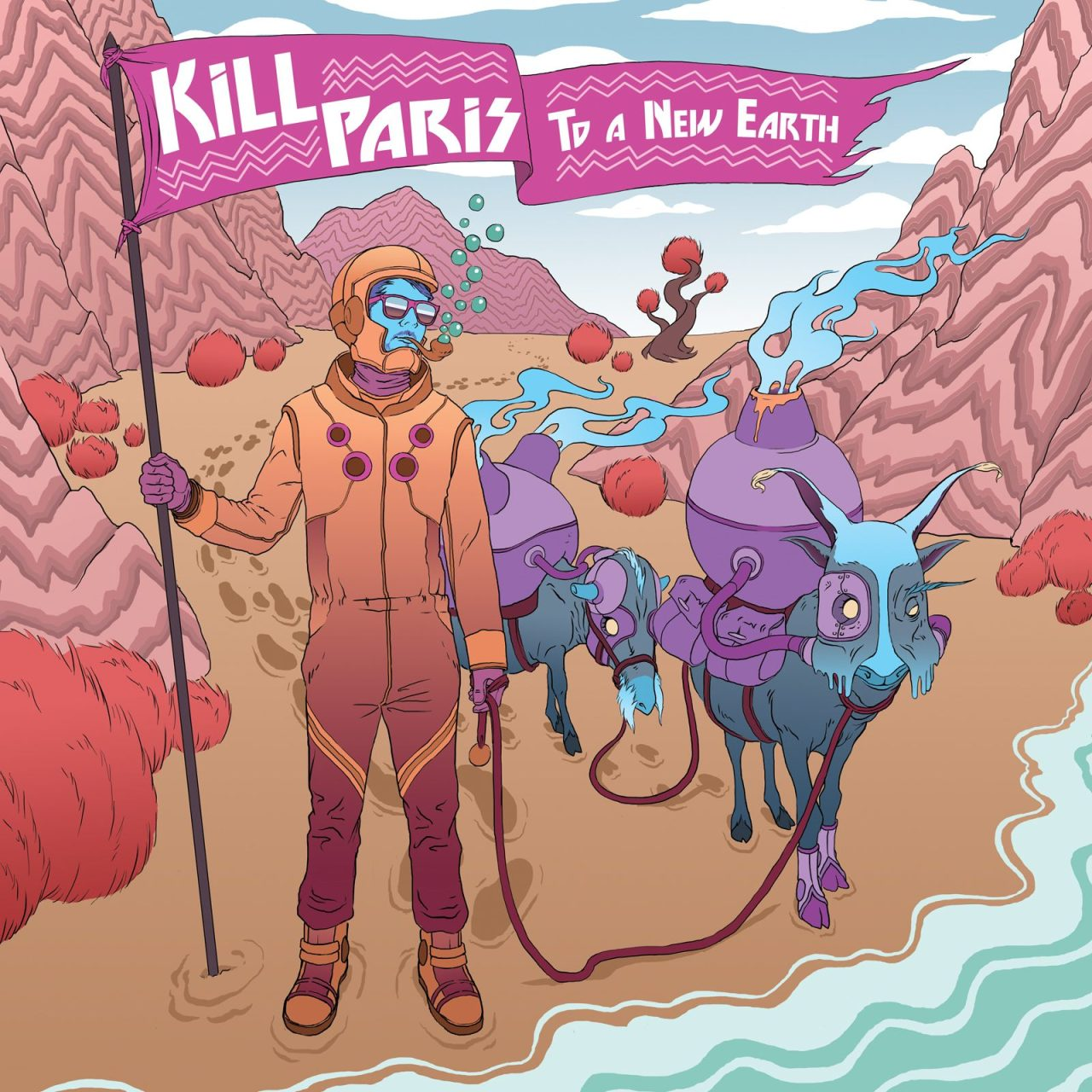 LA-based DJ/producer Corey Baker aka Kill Paris is set to release his upcoming EP To A New Earth on 02.26 via Skrillex's OWSLA. Baker, never one to align with any singular genre, flaunts his powerful new material with the 9-track recording, his 1st on OWSLA, that pulls from influences ranging from funky electro to nu-disco + dubstep. To A New Earth divulges in rhythmic yet pulsating territories while atmospheric interludes within the songs deviate from EDM's ever-present build-up-to-the-drop aesthetic. To A New Earth includes remixes from big time industry producers Gramatik, Griz, K Theory, Candyland, + Robert Delong.  Slap Me (Griz Remix) // download