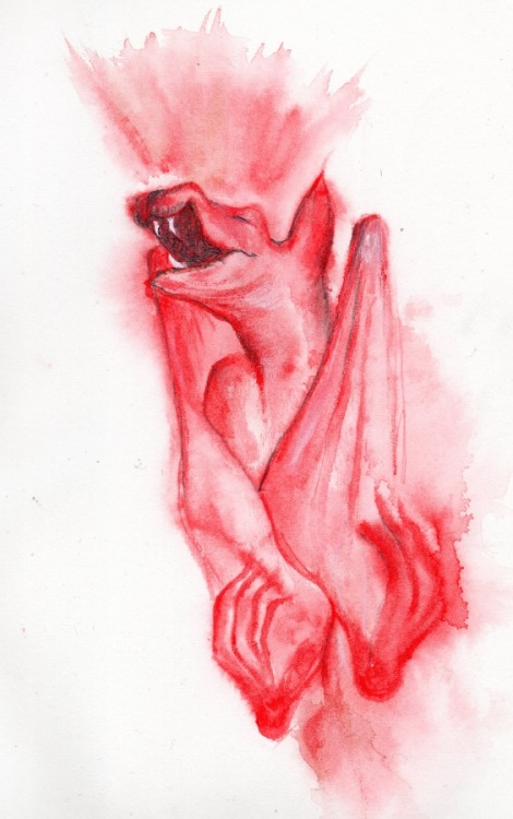 Dolorosa ~ sketch ~ watercolour, pencil and mixed media 2013