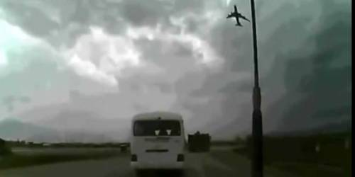 Dashcam video of terrifying Boeing 747 crash surfaces via The Daily Dot GIF by Be Con In Riot