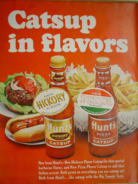 1965 ad for Hunt's Catsup in flavors