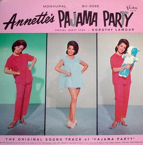 excitingsounds:  Movie soundtrack: 'Pajama Party' (back cover) (1964) Buena Vista Records by jadedtom on Flickr.