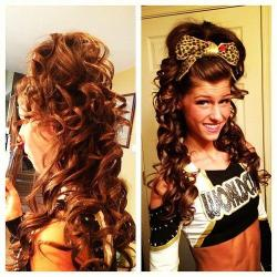 cheer-is-paradise:  Big hair don't caaare