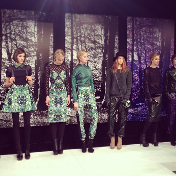 FLORAL HUES at @CharlotteRONSON. WE ARE IN LOVE @CJRONSON!! xo (at Mercedes-Benz Fashion Week)