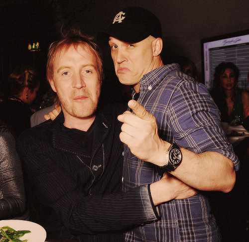 May 2 - Tom Hardy and Rhys Ifans attend Gabrielle's Gala 2013 supported by Lorraine Schwartz at Battersea Power Station in London, England. (x)