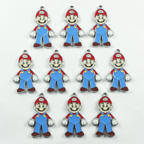 Lot 10pcs Super Mario Metal Charm Pendants for Kids Jewelry Crafts DIY…   (clipped to polyvore.com)
