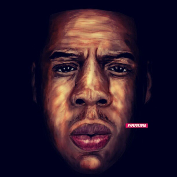 Fixed up my Jay-Z painting a little bit. Might try to add more later.  #rocnation #defjam