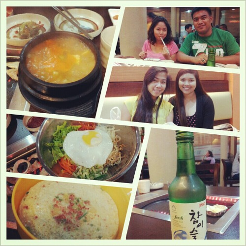 Korean dinner with office friends. Excuse my haggard face. With Laira, Kuya Ian and Anne.