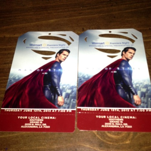Got tickets to early screening of Superman - yay! (at Indoor Track)