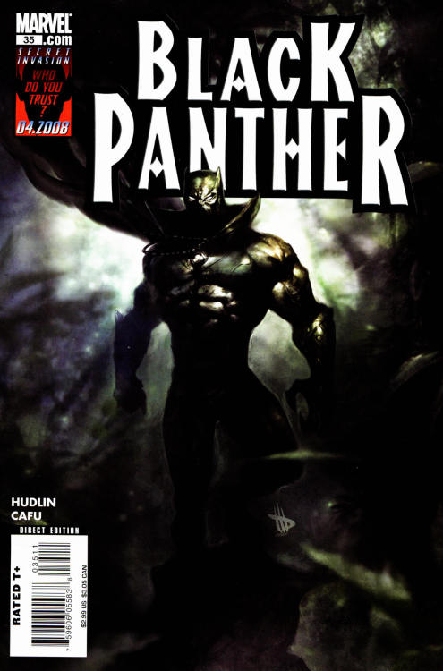 Black Panther #35, May 2008, cover  by Dave Wilkins