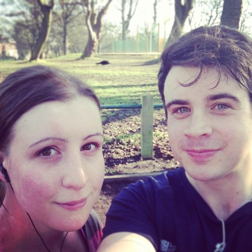 Just practicing Park Run again with @kt_tato #fit #fitness #nerds #running #Leeds #ParkRun