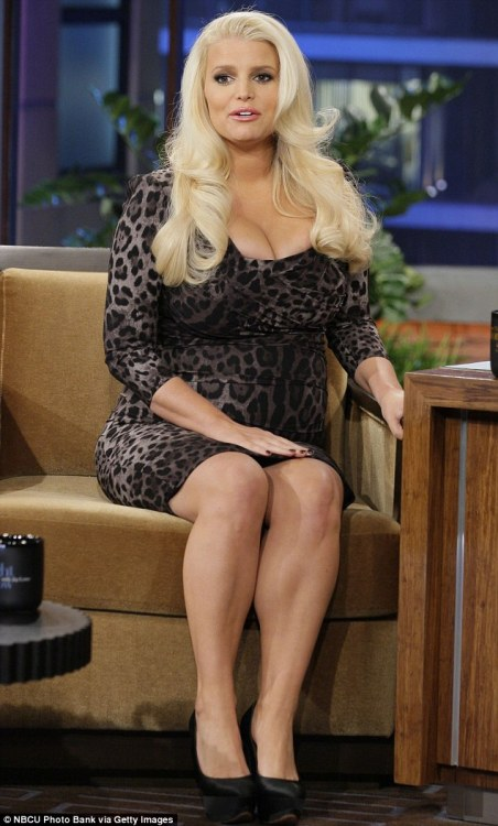 "As you know, Jessica Simpson is pregnant again, and talking about little else. She told Jay Leno (and America):    ""Apparently it was a part of God's plan for my life. I was extremely shocked. I was shocked because I was going through a lot of hormonal changes trying to get back to the old, vibrant Jessica. And you know, it was kind of like a one-night stand. And it happened … all over again! We've had two different wedding dates, but he keeps knocking me up. I'm doing it very backwards, I know! I'll just keep my legs crossed this time.""    What a classy, modest broad. It's not even surprising that NBC has decided to develop a television show about her life. I guess it's their attempt to compete with Here Comes Honey Boo Boo."