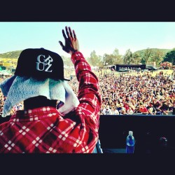 nimafadavi:  #TGOD  (at Paid Dues Hip Hop Festival)  Nice hat!