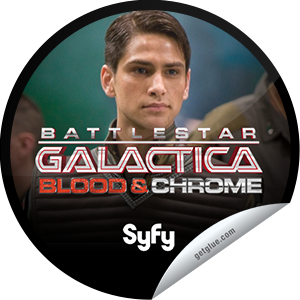 I just unlocked the Battlestar Galactica sticker on GetGlue                      7423 others have also unlocked the Battlestar Galactica sticker on GetGlue.com                  Imagine a world where astrology and astronomy collide, where the Pantheon of the ancients rides at the helm of hulking starships, where humanity goes beyond blood and chrome. Watch just one episode and we promise to blow your fraking mind. Check out Battlestar Galatica: Blood & Chrome when it premieres on February 10 at 9/8c on SyFy. Share this one proudly. It's from our friends at Syfy.