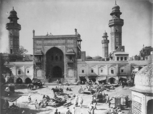 sheisfromindia:  Wazir Khan Mosque in 1895, Pakistan