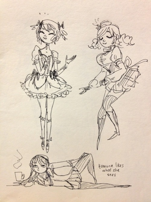 Really into Madoka again!! Probably because we've been working on costumes all day….