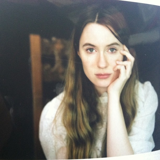 hauntedcamera:  @angmodel test with 405 polaroid back for 4x5 … no make up, no filter, no nothing #iphone buttons loose, one noose, deadly events