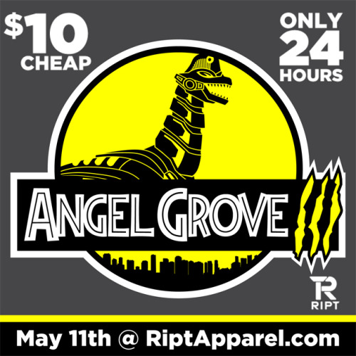 "biggstankdogg:  24 Hours - Only $10 CHEAP!!!""Angel Grove III"": The Chapter of the Trilogy! May 11th only at www.RiptApparel.com More shirts and stuff @:RedBubble  