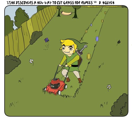 Link discovers a new way to make moneyhttp://rpgfanatics.tumblr.com