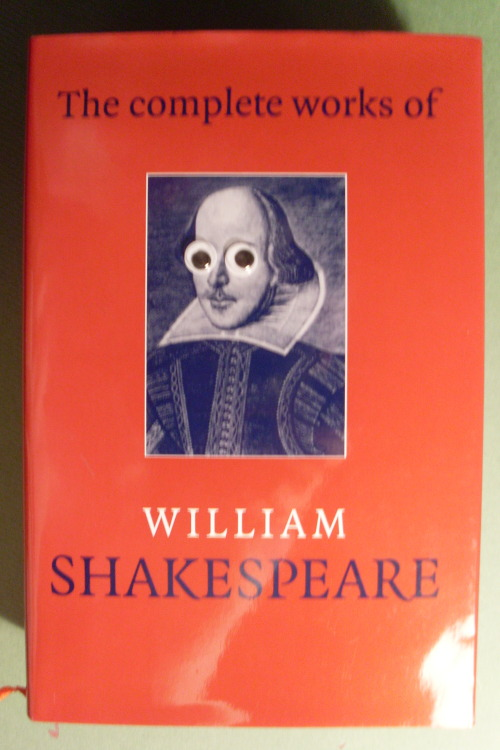 "googlyeyebooks:  ""O Romeo, Romeo, wherefore art thou Googly-eye'd?"""