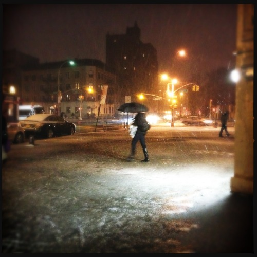 #brooklyn #snow #night #slush