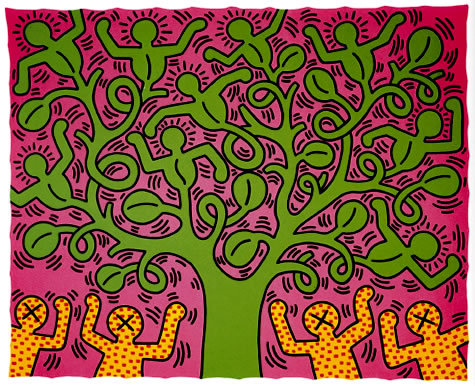 keithharing:  Happy Birthday Keith! You are missed. Haring artwork 1985 ©Keith Haring Foundation  Used with permission