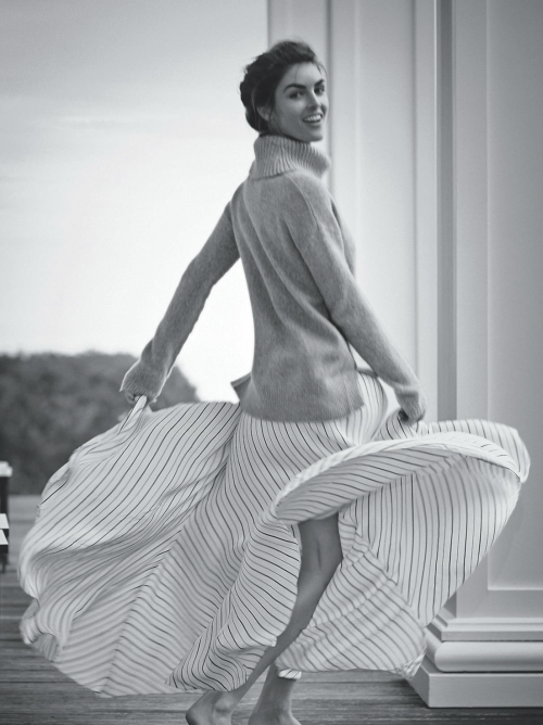 """""""Dream Boat"""", Hilary Rhoda photographed by Boo George for Vogue Australia January 2014"""