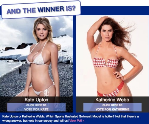 Now that the bikinis have been unleashed, which do you prefer: Kate Upton or Katherine Webb?