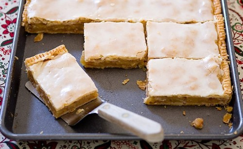 Gather your friends and gobble up pan of our Apple Slab Pie. It's huge, it's tasty—you know you want to.