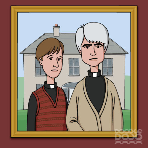doodledojo:  Craggy Island Gothic. Available on Redbubble and Society6. Doodle Dojo | Facebook