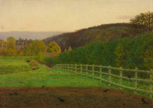 George Price Boyce's Landscape At Wotton, Surrey: Autumn, 1864/5 (via Tate)