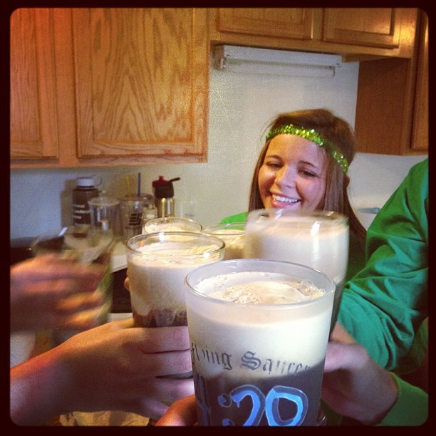 #stpatricksday Guinness floats!! So it begins