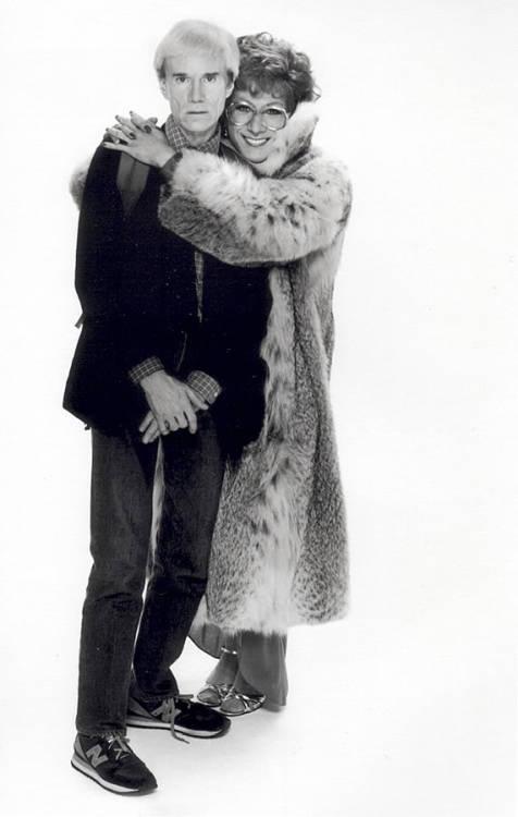 Andy Warhol & Tootsie by Greg Gorman