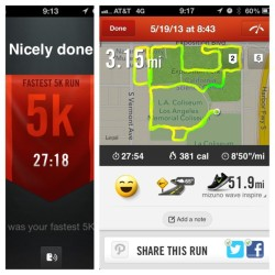 #picstitch #sunday #funday #nike #running #bgr Personal Best today thanks to my angel my mama! #purplestride #la  (at Los Angeles Memorial Sports Arena)