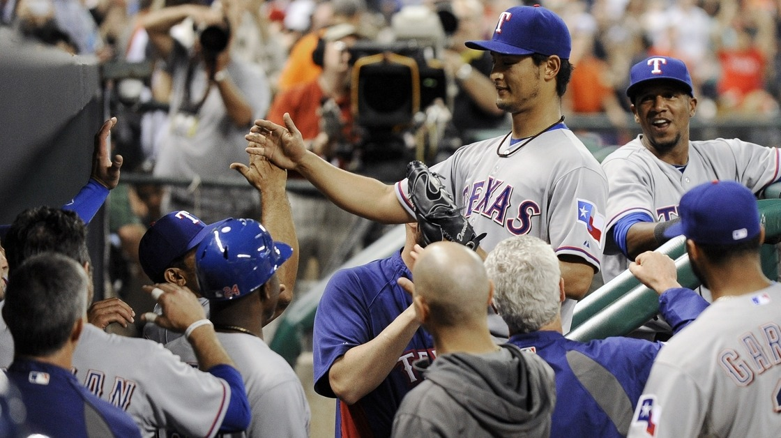 Near perfection in only the second game of the season. Yu Darvish Loses Perfect Game With Two Outs in the 9th