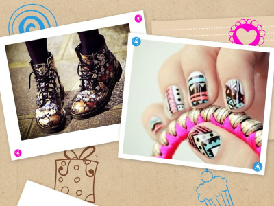 A cute 'n' colourful collage 👑💅🎀👠 💛💙💜💚❤