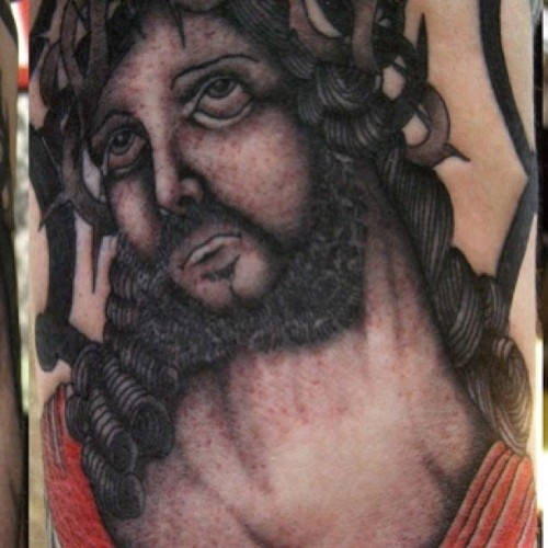 Detail #jesustattoo #alboytattoo #traditionaltattoo