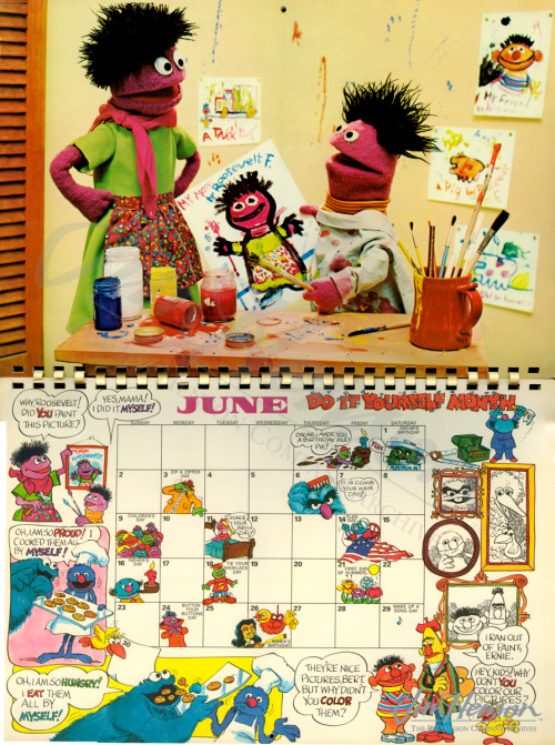 The month of June in the 1974 Sesame Street Activity Calendar.