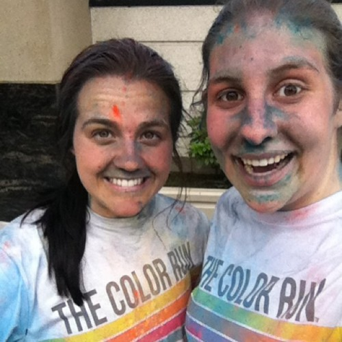 Aftermath of The Color Run @amberbleth24 #thecolorrun #seattle #funcolors #wedida5Kanddidntdie (at Seattle Center)