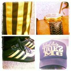 S/O the homie @lilbankheadv103 #Talk2Me #blackandgold #picstitch (at V-103FM (WVEE-Atlanta))