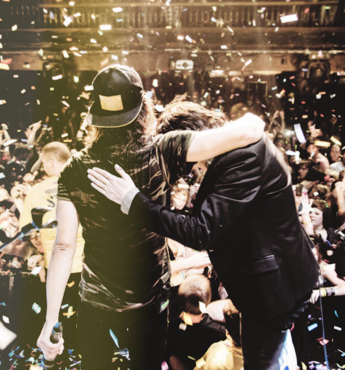 Vic Fuentes & Kellin Quinn (do not remove caption) {x}