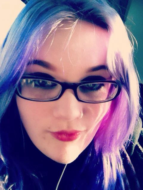 """Redyed my hair purple. :)"" Love it! Thanks for sharing."
